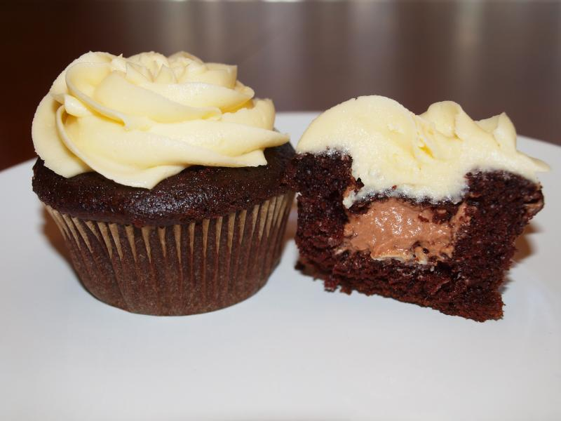 cake filled with chocolate mousse and topped with Irish Cream Buttercr